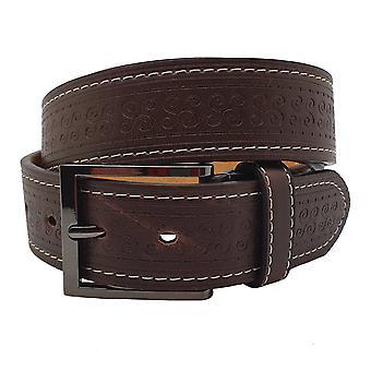 Unisex Adults' 40mm Swirl Pattern Leather Belt