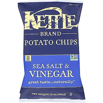 Kettle Foods Chip Pto Seaslt &vingr, caz de 9 X 13 Oz