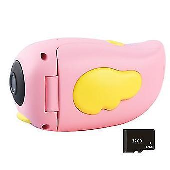 Dětská kamera Smart HD Cartoon DV Kapesní sportovní videokamera Dárek pro děti (růžová)