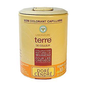 100% vegetable golden ash color hair dye 100 g of powder