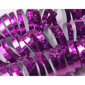 3.8m Pink Holographic Streamer Roll for Parties