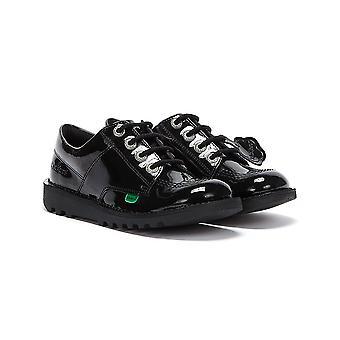 Kickers Kick Lo Patent Youth Black Shoes