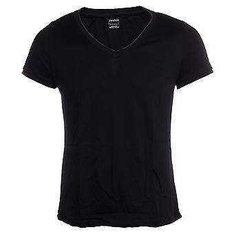 كوم المرأة فارغة ريبوك تدريب لياقة القميص الأسود
