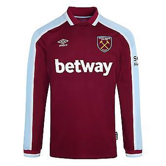 2021-2022 West Ham Camisa de manga larga en casa