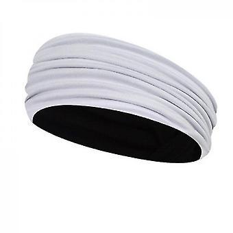 Yoga elastische hoofdband voor haarstyling en yoga (wit)