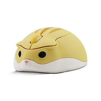 Cute cartoon wireless mouse usb optical computer mouse portable mini laptop mause pink hamster design mice for kids macbook