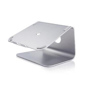 Soporte para portátiles de aluminio Tablet Soporte para portátiles Soporte para portátiles Montaje de almohadilla de refrigeración (plata)