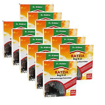 Sparset: 12 x DR. STÄHLER Ratzia Bag B 25, 500 g