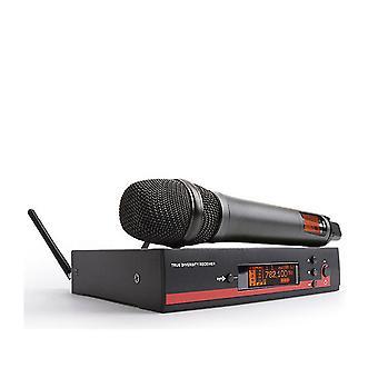 Professionell uhf trådlös handhållen kondensor mikrofoner sladdlös konferensmikrofon (Grå)
