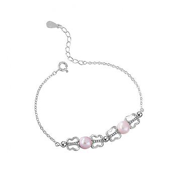 H27 S925 Sterling Silver Fashion Temperament Bracelet Hand Jewelry Simple Bracelet Bridesmaid Gift