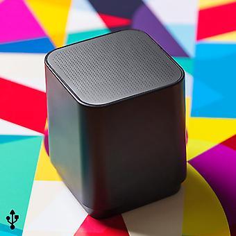 اللاسلكية بلوتوث مكبر الصوت USB 3W الأسود 146132