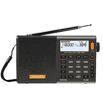 Portable Fm Radio-high Sensitivity Deep Sound And Multi Band With Lcd Display