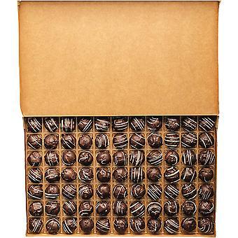Loose Chocolates - A Kilogram Box of 'Vesta' Dark Chocolate Truffles Infused with Caribbean Dark Rum. The Perfect Chocolate Gift by Martin's Chocolatier