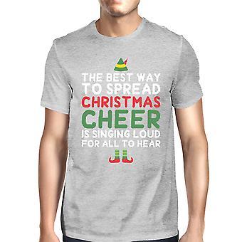 أفضل طريقة لنشر عيد الميلاد يهتف قميص عطلة هدية الرمادية الرجال