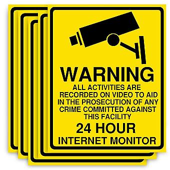 Warning Pvc Camera Alarm Sticker