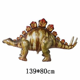Giant simulation dinosaur balloon 4d assembly standing triceratops foil balloon for boy birthday jungle party decorations globos