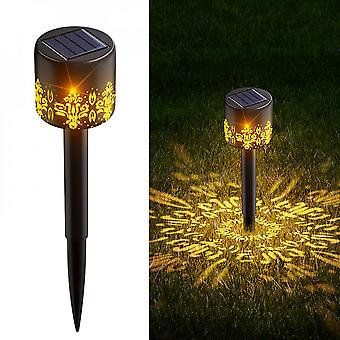2 Pack Outdoor Solar Lights Garden Decoration Led Lamp Waterproof Path Lawn Staking Light