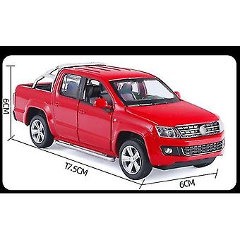 Toy cars 1/30 alloy die cast amarok pickup model toy car simulation pull back vehicle for children red