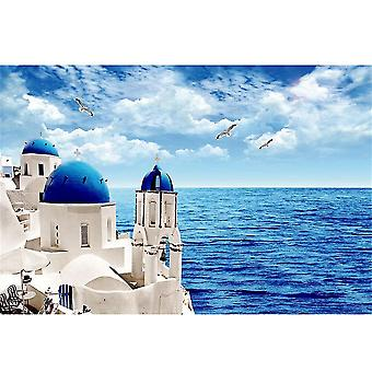 Card games 1000 pcs aegean sea scenery jigsaw puzzle kids adult puzzle toys game home decor