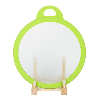 """Multi-functional Tempered Glass Cutting Chopping Board Kitchen Surface Chef Board Diameter 10"""" 25cm Green Round Edge"""