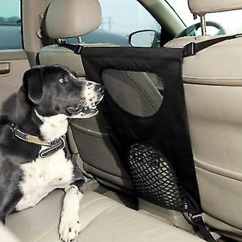Einstellbare Fahrzeugsicherheit Rücksitz Haustier Gate Barriere Mesh Cage Net Auto Hund