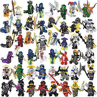 36 Phantom Ninja Colección de personajes con armas niños montados bloque de construcción minifigura juguetes