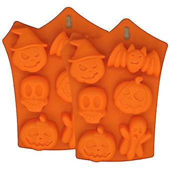 1 Pack Silicone Moulds, Chocolate Mould Silicone Pumpkin Ghost Skull Bat Molds