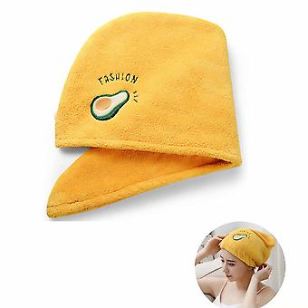 Twisted Quick Dry Hair Towel For Wet Hair Dry Hair Cap Quick Dry Towel Absorbent Cap (yellow