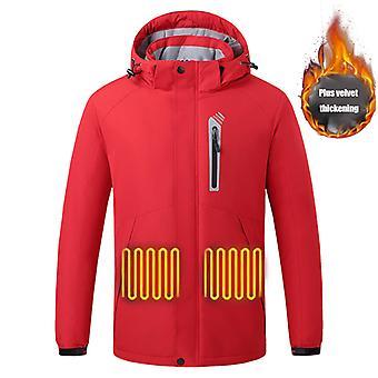 Beheizte Jacke für Männer, 8 Heizbereiche, Warme Outdoor-Jacke