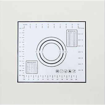 Keittiö tarttumaton silikoni astiat taikina matto lämmönkestävä-26 X 29 cm musta