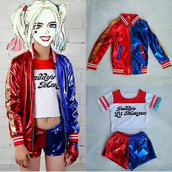 Niñas Adultas Harley Quinn Disfraz de Halloween Escuadrón Suicida Cosplay Disfraces de Fantasía