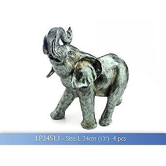 Elephant Hand Finished Metallic Sculpture Leonardo Collection