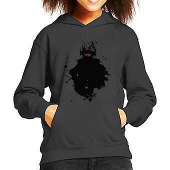 Kaneki Paint Splatter Tokyo Ghoul Kid's Hooded Sweatshirt