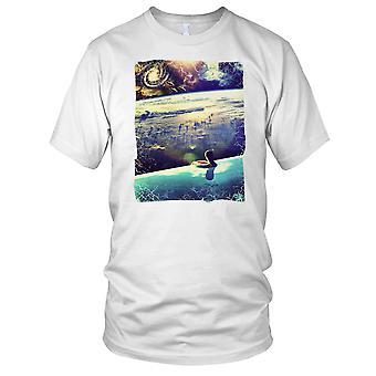 UFO Infinity Pool Solar System - DJ Beach Ibiza Party Kids T Shirt