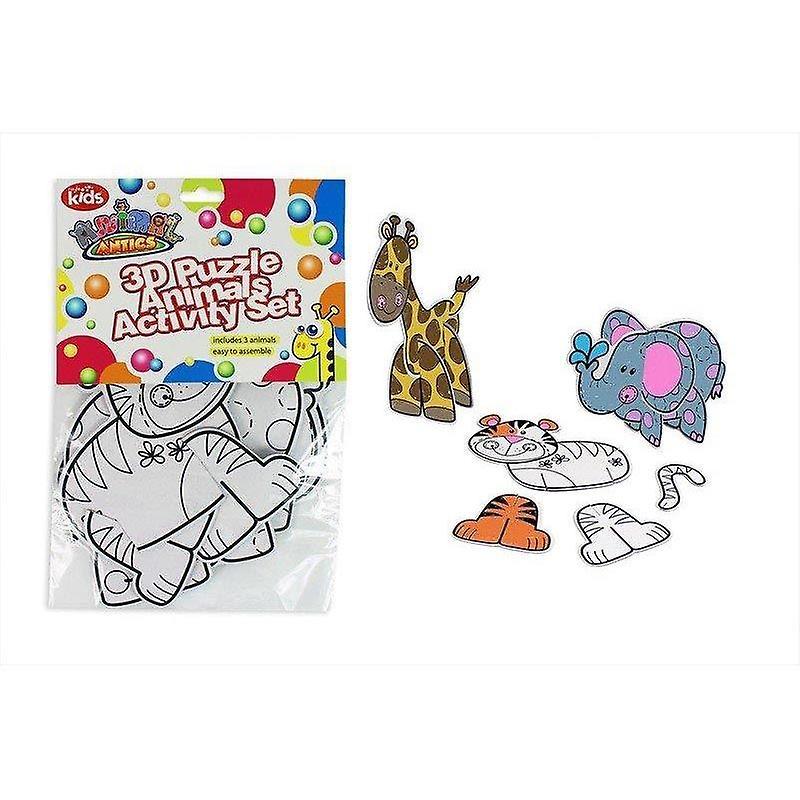 Animal Antics 3D Puzzle Animals Activity Set