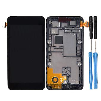 Nokia Lumia 530 LCD con touch screen modulo-nero