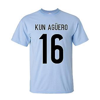 Sergio Aguero Argentina Hero T-shirt (sky)