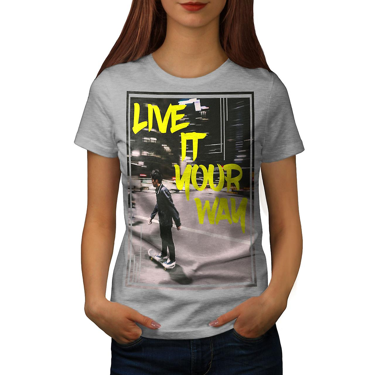 Vivre la ville Street Fashion GreyT-chemise femme | Wellcoda