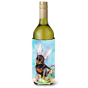 Lancashire Heeler pääsiäinen pupu viinipullo Beverge eriste Hugger