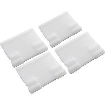 Poolvergnuegen 896584000-419 Bracket for Skirt 4 Pack - White