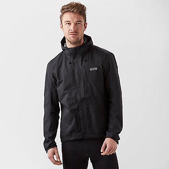 New Gore Wear Men's C3 GORE-TEX Paclite Hooded Jacket Black