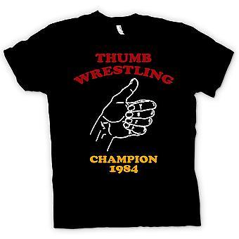 Mens t-skjorte - tommelen bryting Champion - Funny