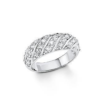 s. Oliver ladies di gioiello anello argento zirconi SO1136