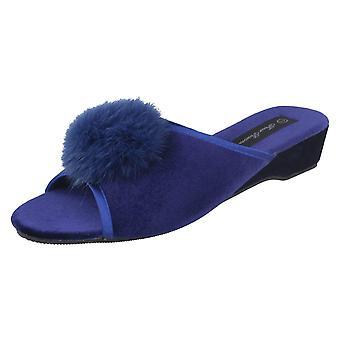 Ladies Four Seasons Luxury Mule Slippers Marilyn