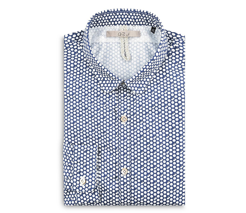 Fabio Giovanni Ferrara Shirt - Mens Italian Casual Stylish Dotted Shirt - Long Sleeve
