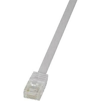 LogiLink RJ45 Networks Cable CAT 6 U/UTP 2 m White highly flexible