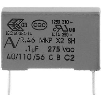 KEMET R46KN347000P1M + 1 computador (es.) capacitor de supressão MKP Radial leva 470 nF 275 V 20% 22,5 mm (L x W x H) 26,5 x 8.5 mm x 17