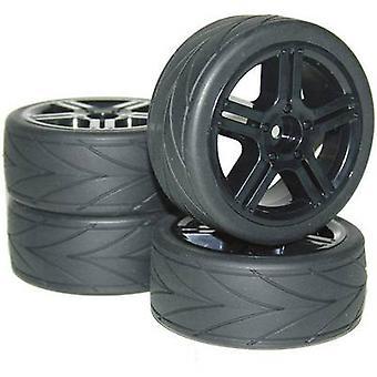 Reely 1:10 Road version Complete wheels High Grip Arrow 10-spoke Black 4 pc(s)