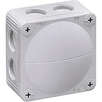 Wiska 10060400 Junction box (L x W x H) 85 x 85 x 51 mm Grey-white (RAL 7035) IP66