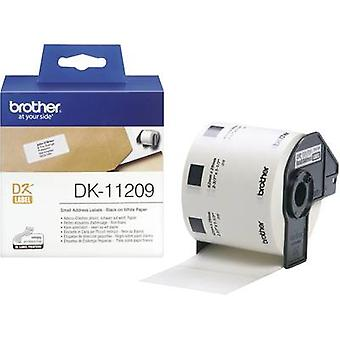 Brother DK-11209 Label roll 62 x 29 mm Paper White 800 pc(s) Permanent DK11209 Address labels